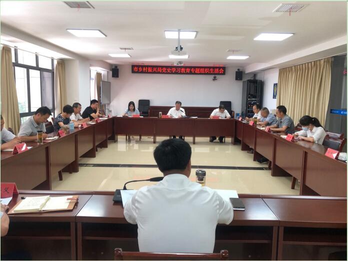 【市乡村振兴局】召开党史学习教育 专题组织生活会